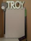 Troy lacrosse hockey sign in board