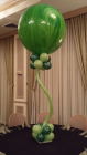 30in marbled balloon in green Bat Mitzvah