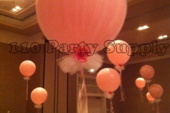 Tulle wrapped 30in balloon on tulle weight